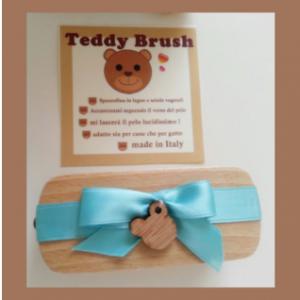 TEDDY BRUSH spazzola in legno con setole vegetali-per cani e gatti a pelo corto